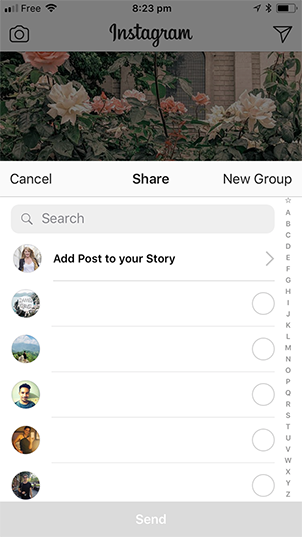 Add Instagram Post to Story